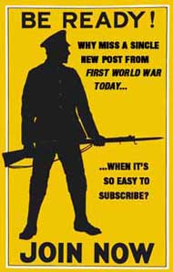 Be ready! Why miss a single new post from First World War Today when it's so easy to subscribe? JOIN NOW