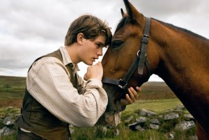 Albert (Jeremy Irvine) and his beloved farm horse Joey, in Dreamworks' forthcoming War Horse